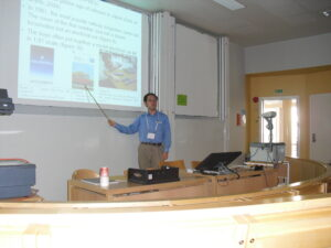 ISA(国際社会学会)での報告の様子(2010年7月、スウェーデン・ヨーテボリ)